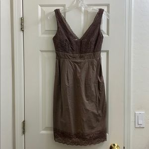 Moulinette Soeurs taupe lace dress with pockets 0